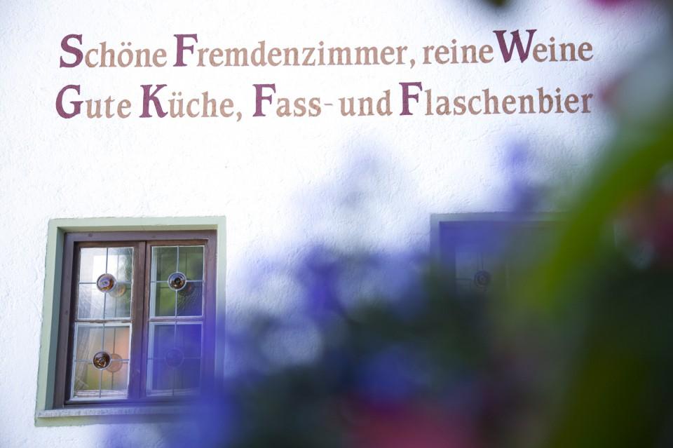 landhotel stern - tirol - familienurlaub - sternspruch hausmauer