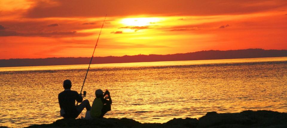 Dajuma - Fishermen in Sunset-1