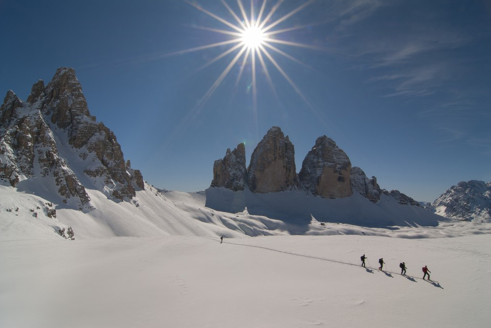 ski wandern drei zinnen