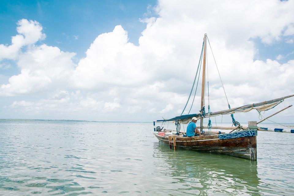 Boot mit Sicht aufs Meet