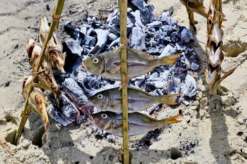 sandbank cooking fish 2