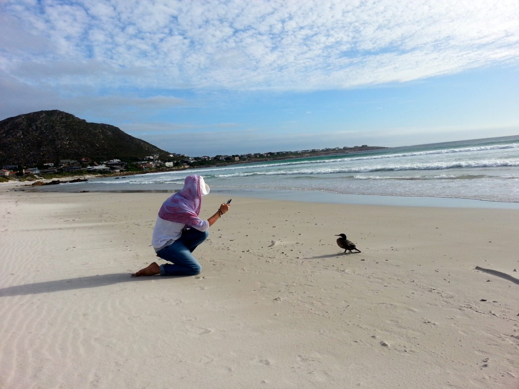 Dawn Jorgensen, South Afirca, Pringle Bay, Stopped on the Beach with the Bird