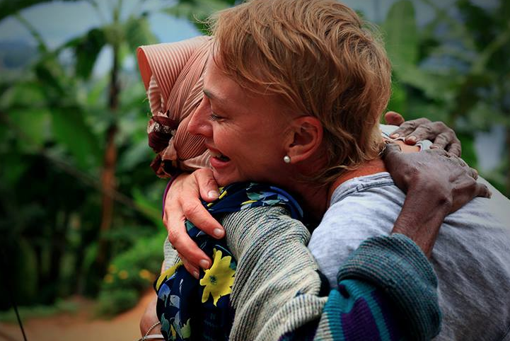Dawn Jorgensen, Uganda, Meeting 94yrs old Frida in a village near Lake Bunyonyi