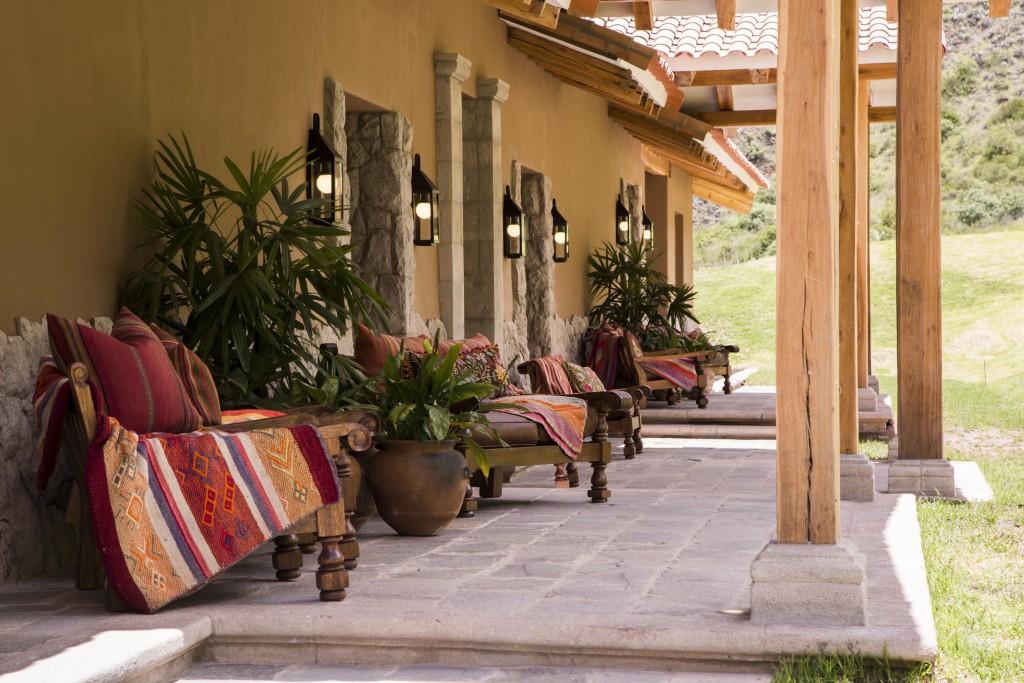 Inkaterra Hacienda Urubamba Peru terrace
