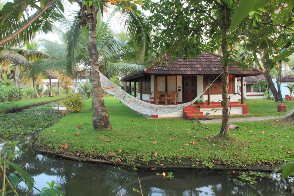 CGH Earth Coconut Lagoon Indien Hängematte