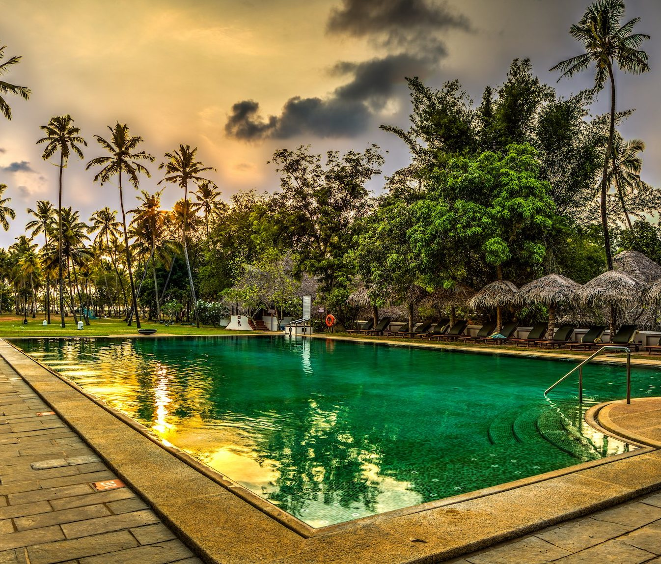 Pool at Marari Beach