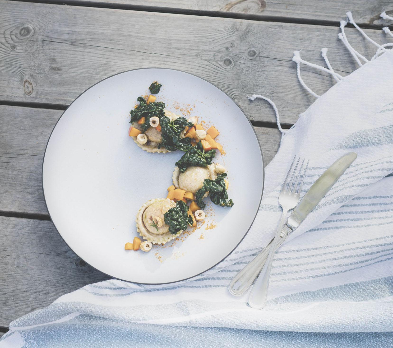 Vegan dishes at LA VIMEA
