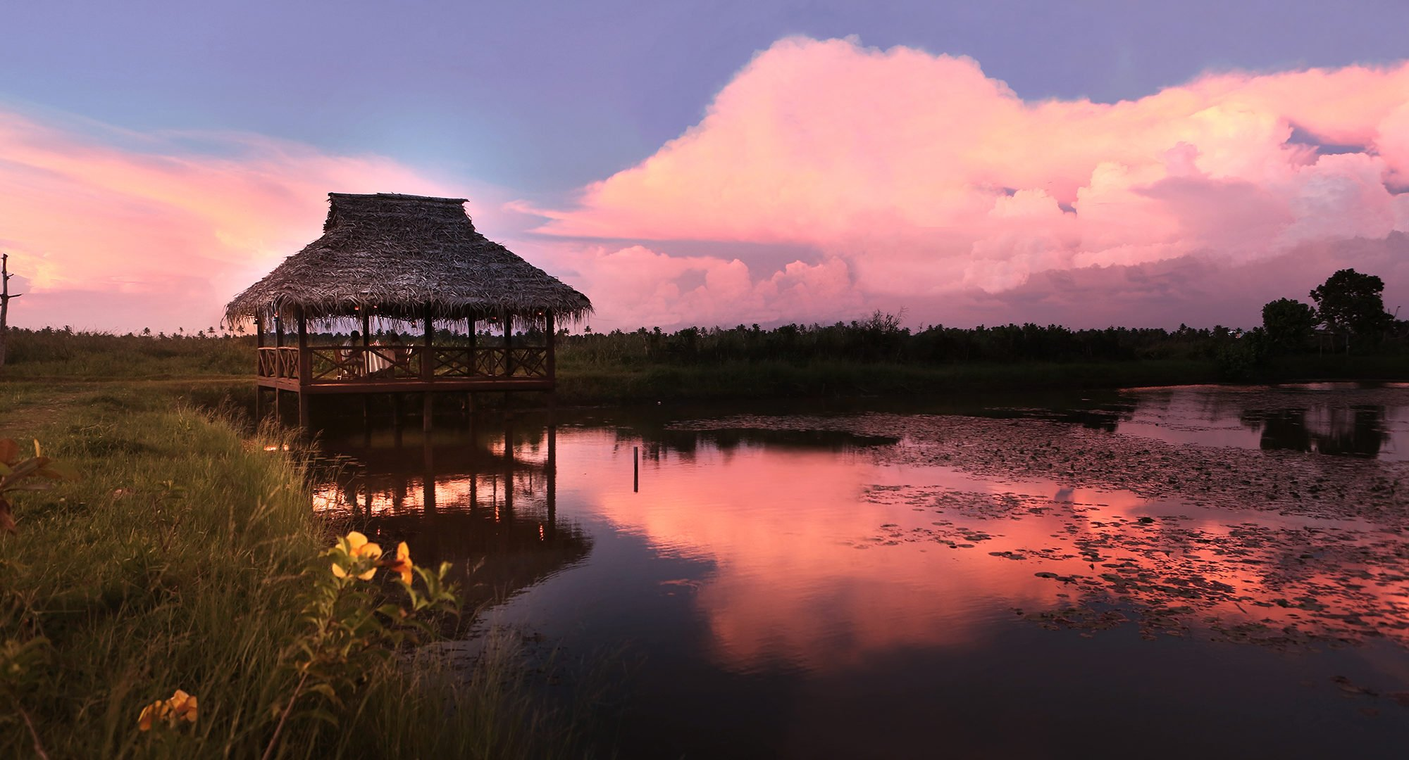 Hut, Sunset, Kerala, India