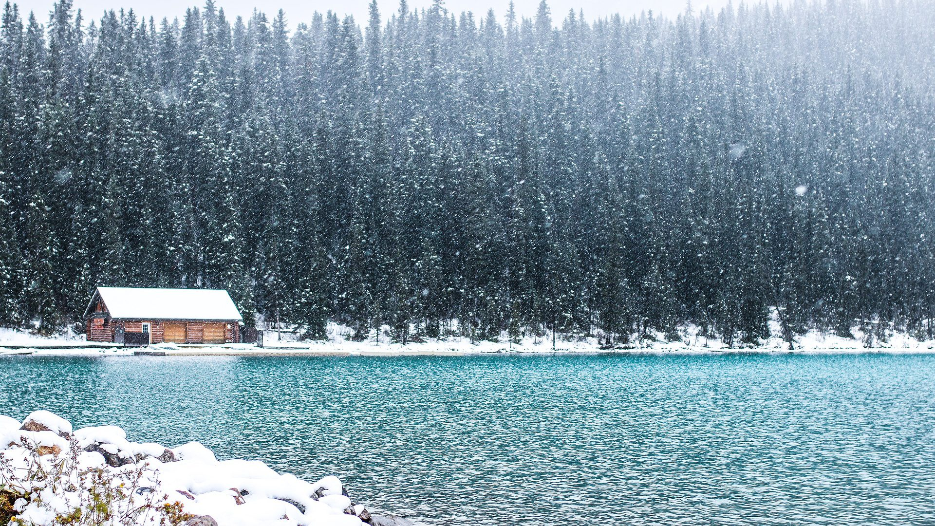 lake snow canada