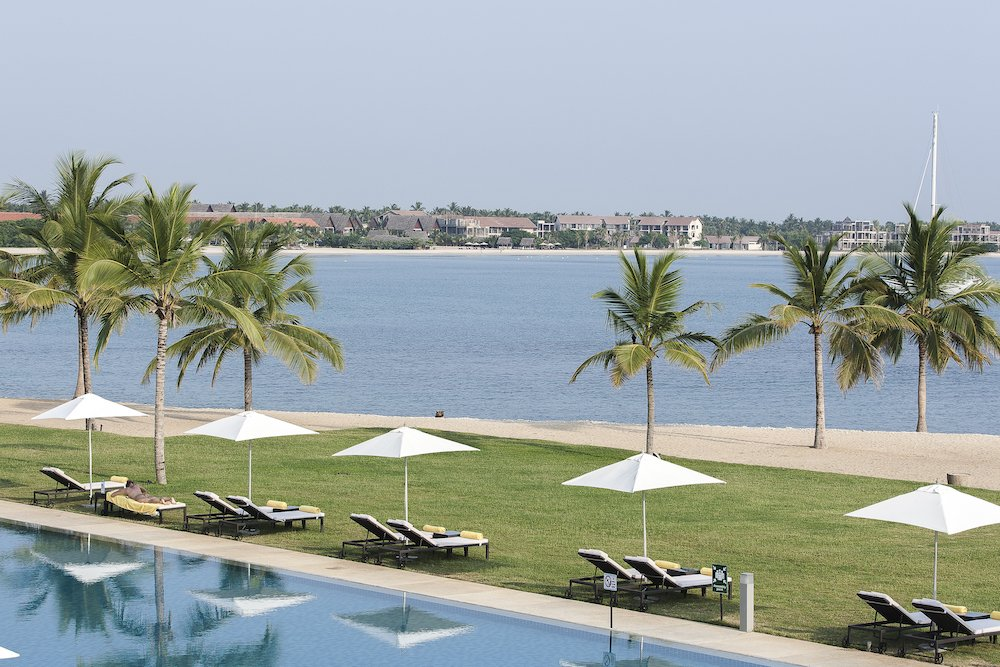 View from the pool of Amaya Beach Resort & Spa over the Passikudah Bay