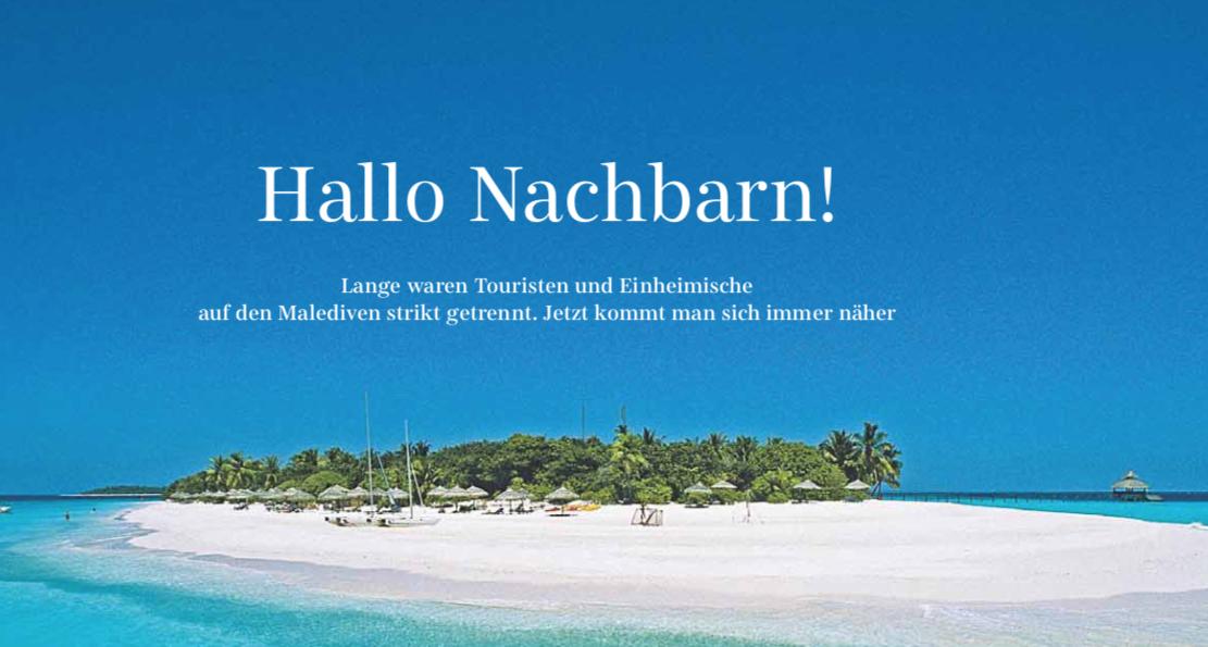 Malediven und Reethi Beach Resort in der Süddeutschen Zeitung