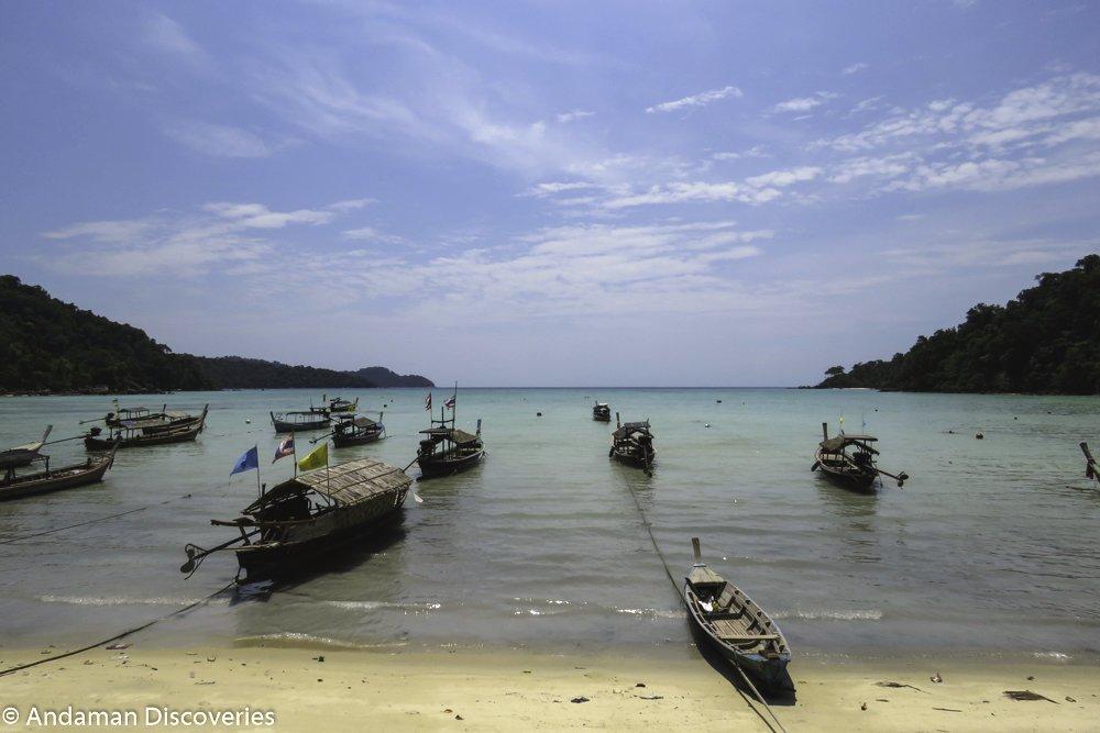 Moken-Boote in Thailand