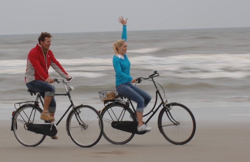 Juist, Fahrradtour am Strand