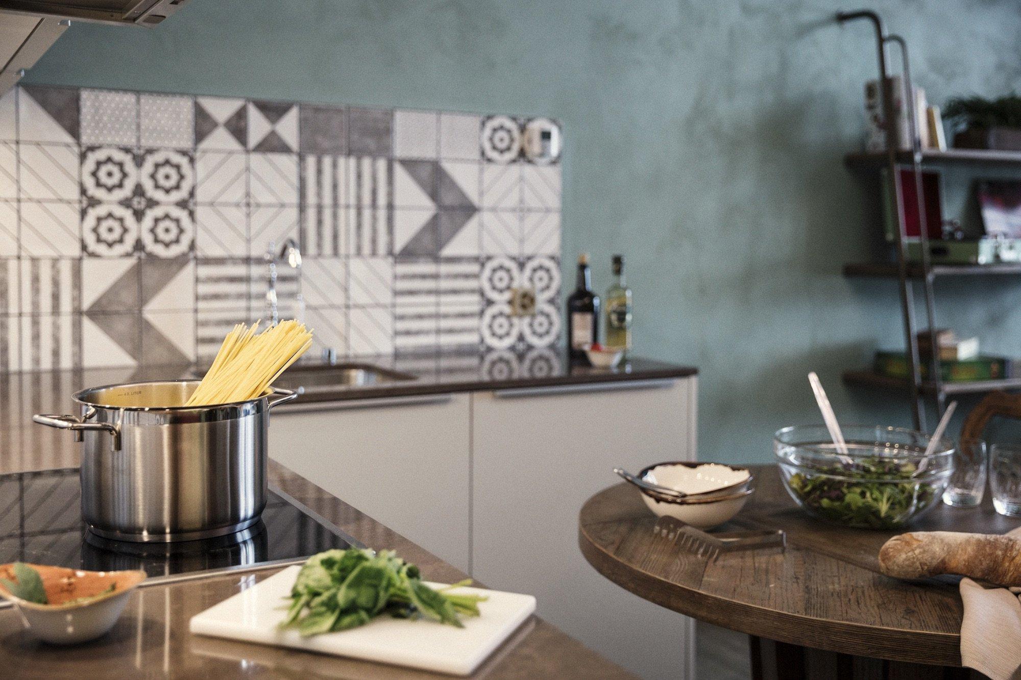 Küche der Ferienwohnungen im Valsana