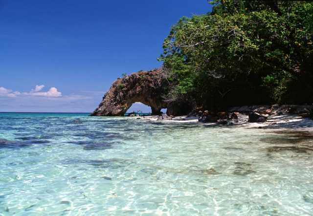 Khai Island is located in Tarutao National Marine Park, Satun