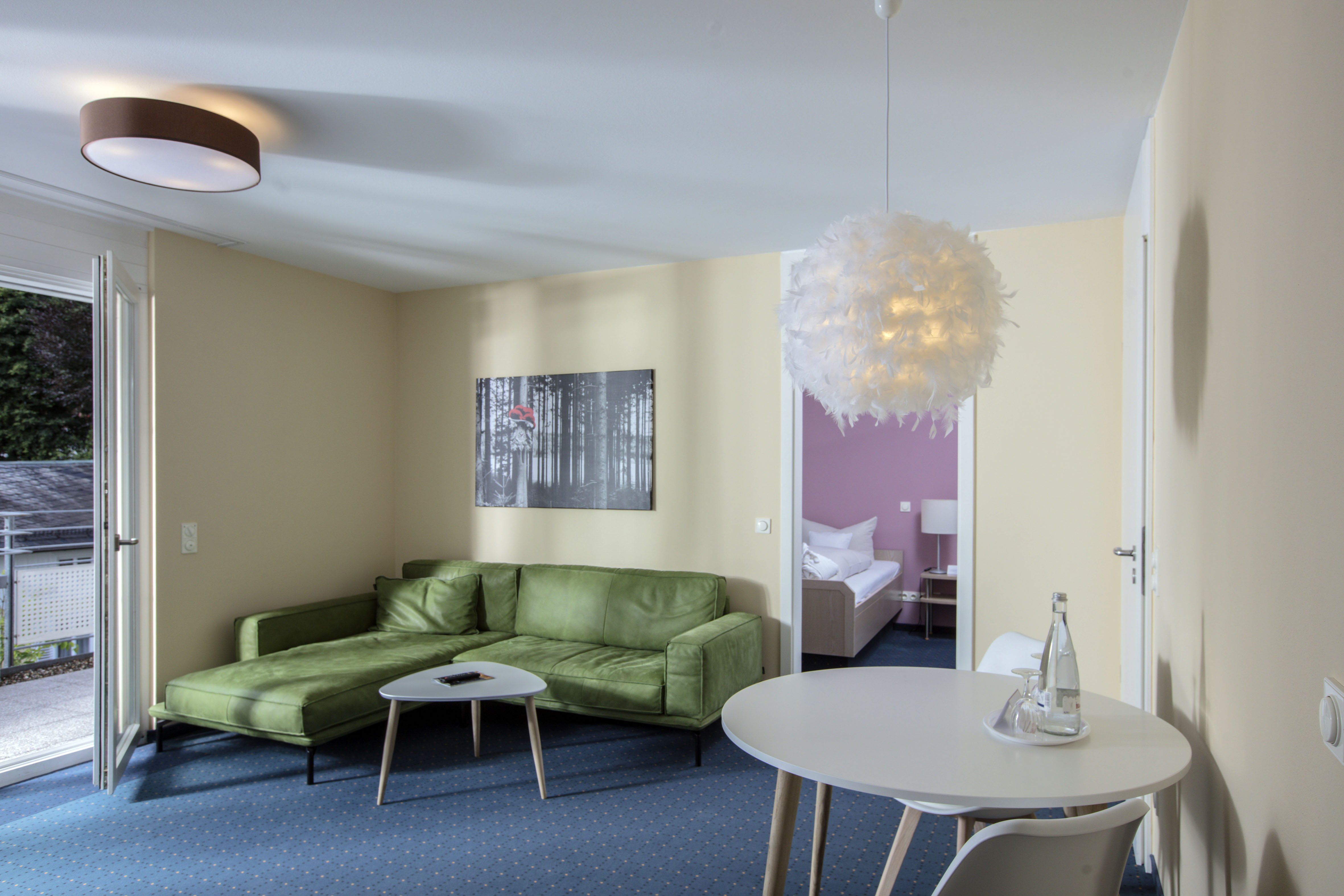 Wohnraum im 2 Zimmer Appartement des Schwarzwald Panorama
