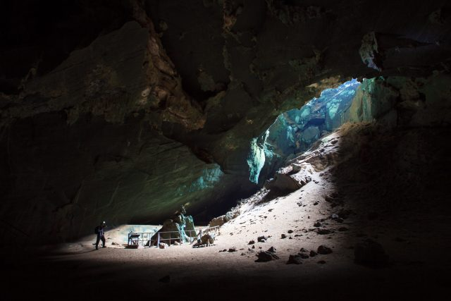 Phu Pha Phet Cave in the UNESCO Geopark Satun