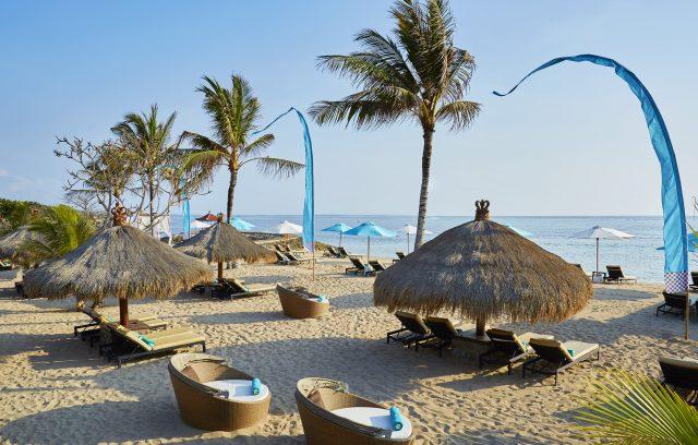 Private beach of the eco-hotel Sol Beach House Benoa
