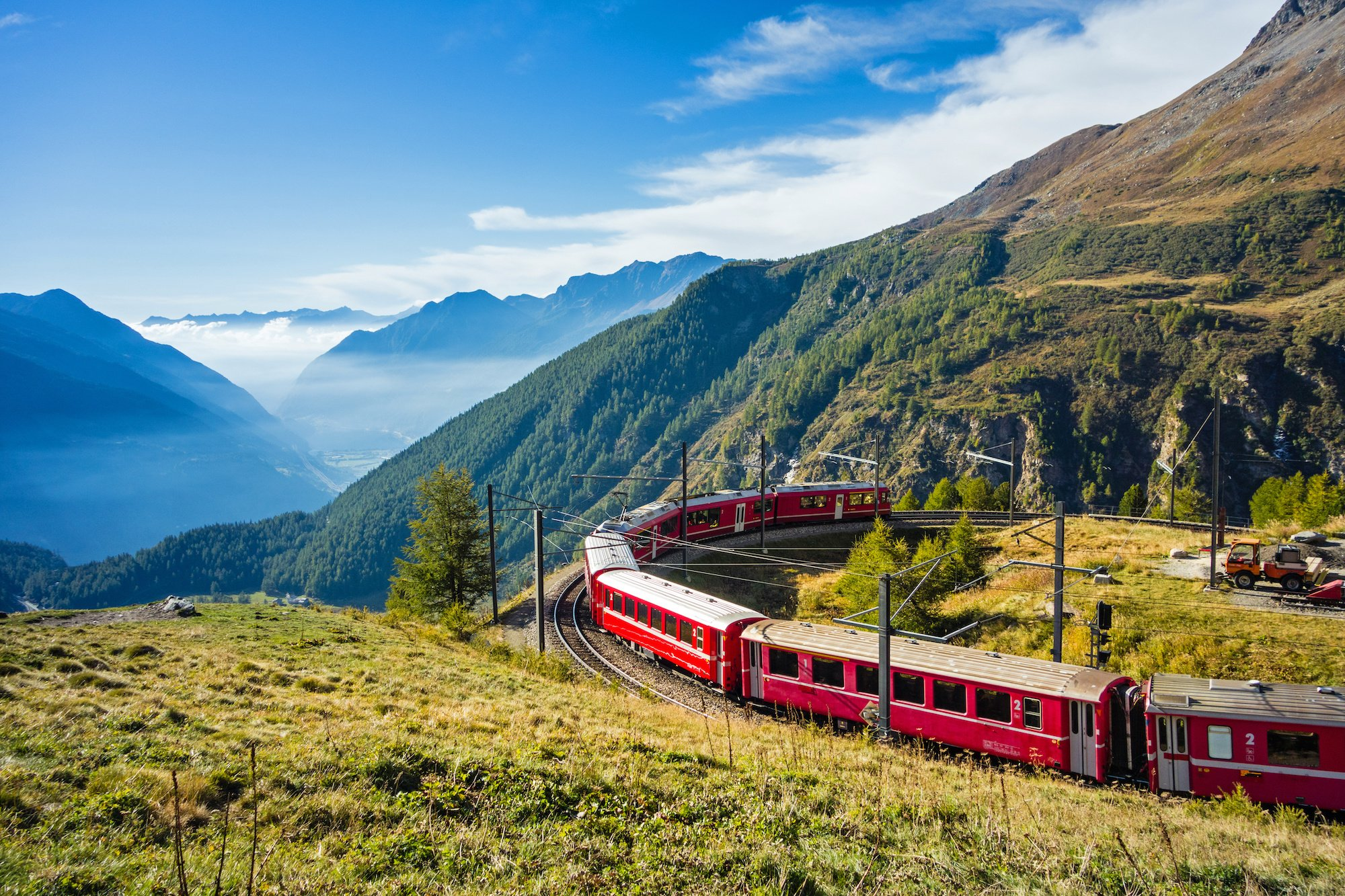 Traveling by train is more eco-friendly