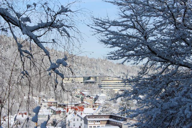 Bad Herrenalb in the Black Forest all covered in white. © SCHWARZWALD PANORAMA