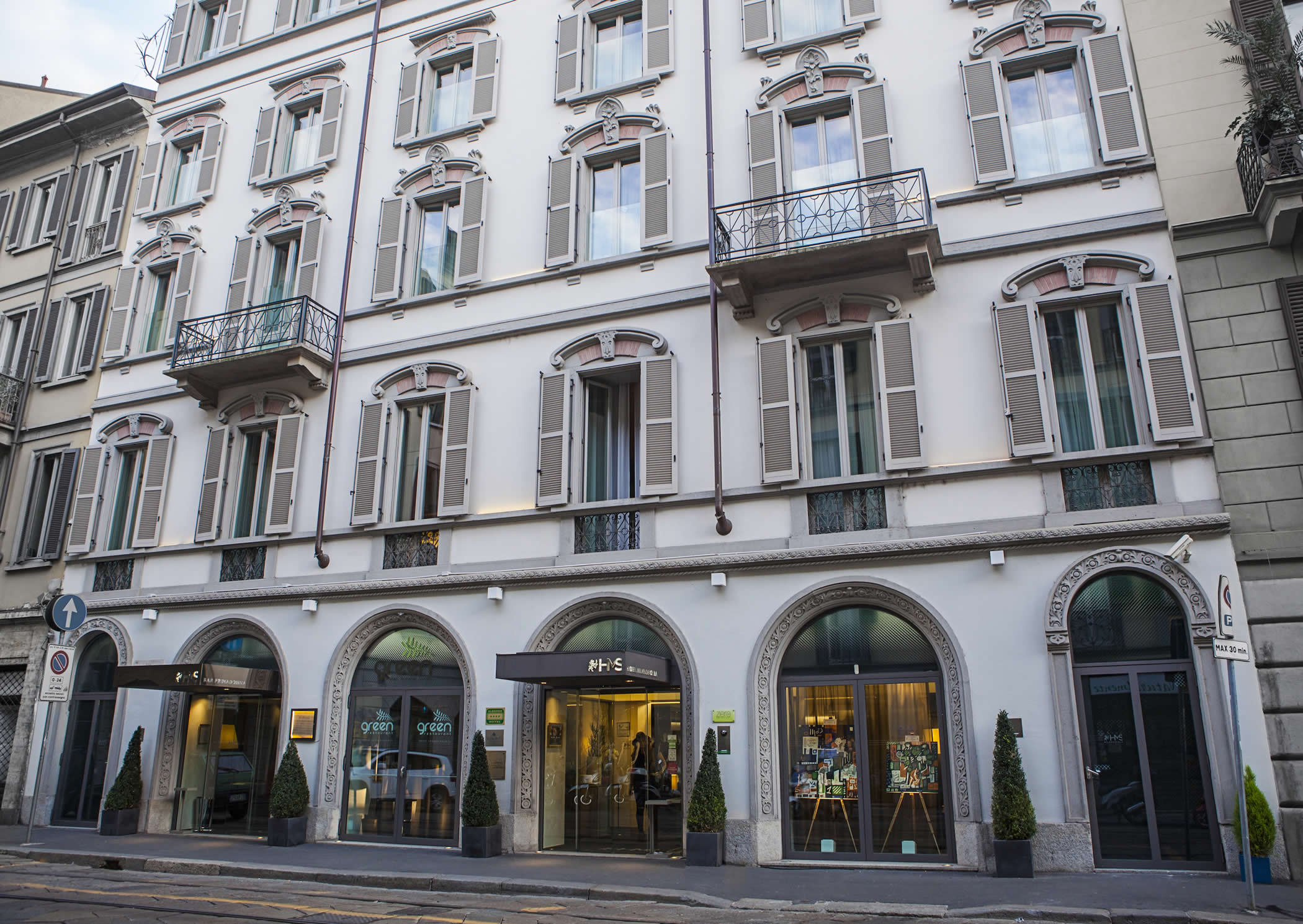 Historic façade of the city hotel. © Hotel Milano Scala